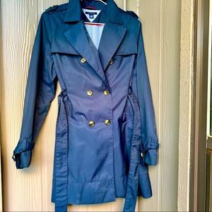Navy Blue Large Tommy Hilfiger Trench Coat 🧥✨